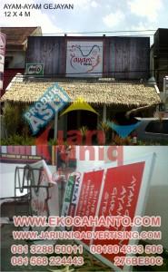 baliho billboard reklame ayam-ayam di gejayan jogjakarta