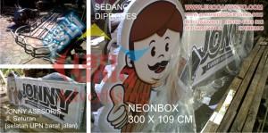 neonbox jonny gadget di seturan jogja by jariuniqadvertising