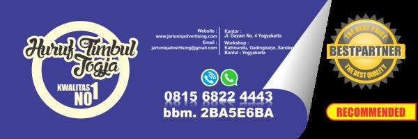 jariuniq papan nama neonbox running text dan huruf timbul jogja huruf timbul