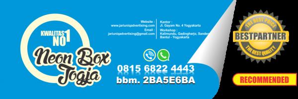 jariuniq papan nama neonbox running text dan huruf timbul jogja neonbox