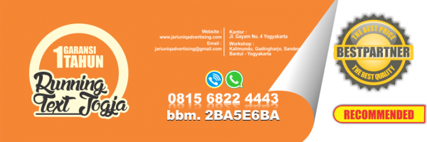 jariuniq papan nama neonbox running text dan huruf timbul jogja running text