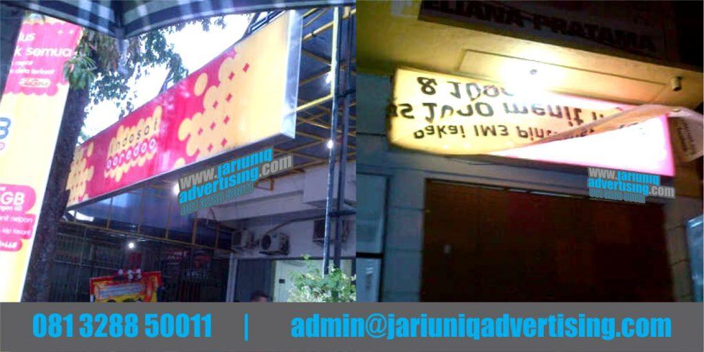 Jasa Advertising Jogja Neon Box Indosat Di Yogya